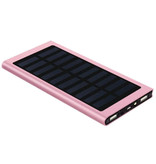 Stuff Certified® External 30,000mAh Solar Charger Powerbank Solar Panel Emergency Battery Battery Charger Pink