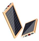 Stuff Certified® Chargeur solaire externe 30.000mAh Banque d'alimentation d'urgence de batterie solaire Chargeur de batterie d'or