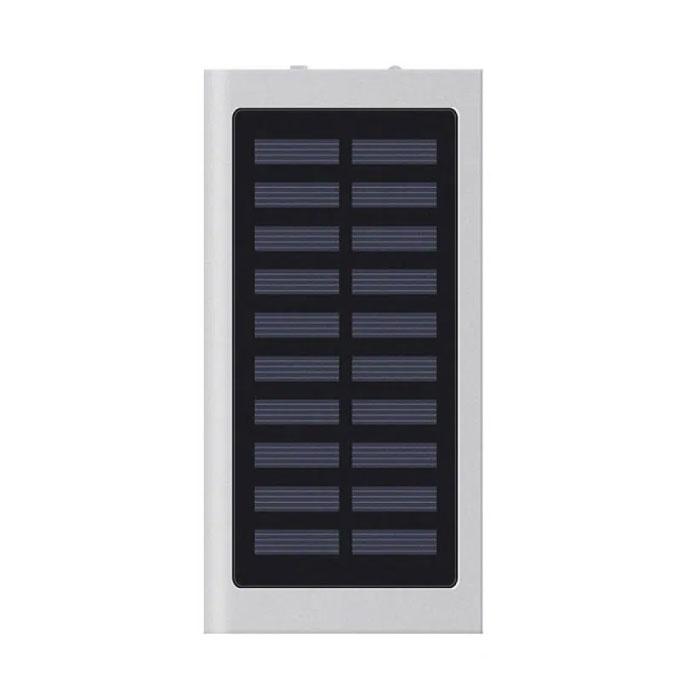 Stuff Certified® Externe 30.000mAh Solar Charger Powerbank Zonnepaneel Noodaccu Batterij Oplader Zilver