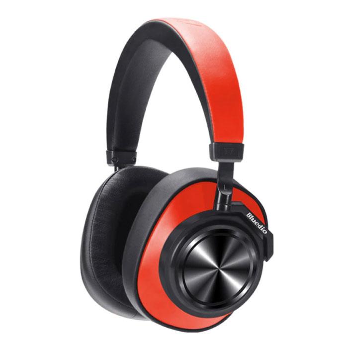 T7 Draadloze Koptelefoon Bluetooth Wireless Headphones Stereo Gaming Rood