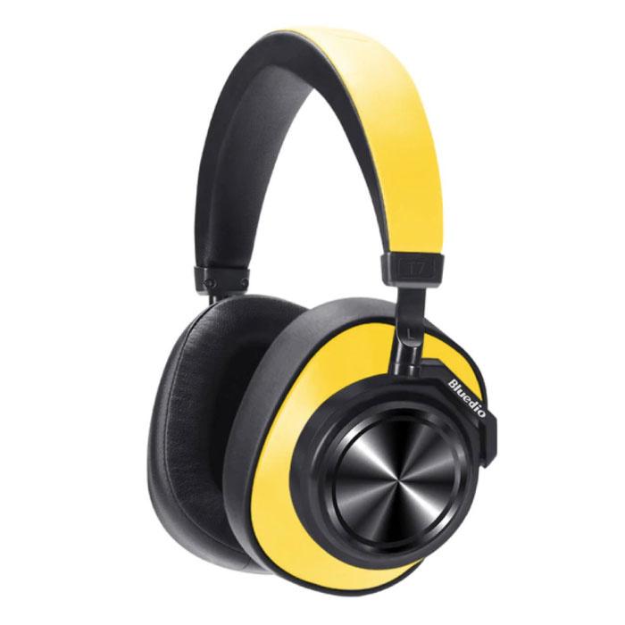 Casque sans fil T7 Casque sans fil Bluetooth Casque stéréo de jeu jaune