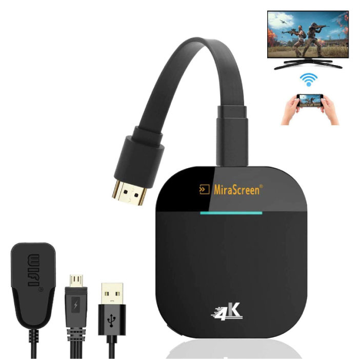 MiraScreen G5 Miracast TV Stick 4K Cast HDMI 5G WiFi Receiver Scherm Ontvanger iPhone & Android