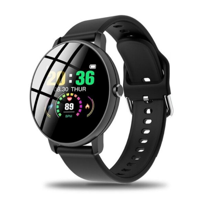 Q5 Sport Plus SmartWatch Fitness Sports Tracker Activité Smartphone Regarder iOS iPhone Android Samsung Huawei Noir