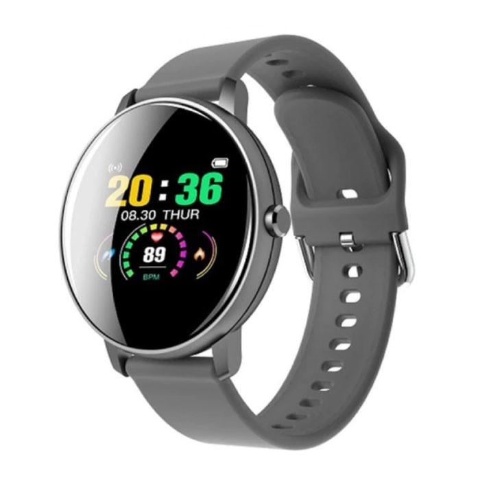 Q5 Plus Sports Smartwatch Fitness Sport Activity Tracker Smartphone Horloge iOS Android iPhone Samsung Huawei Grijs