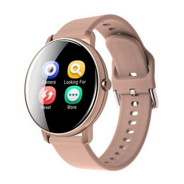 Q5 Plus Sports Smartwatch Fitness Sport Activity Tracker Smartphone Horloge iOS Android iPhone Samsung Huawei Roze