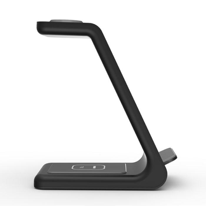 Bonola 3 in 1 Oplaadstation voor Apple iPhone / iWatch / AirPods -  Charging Dock 18W Wireless Pad Zwart