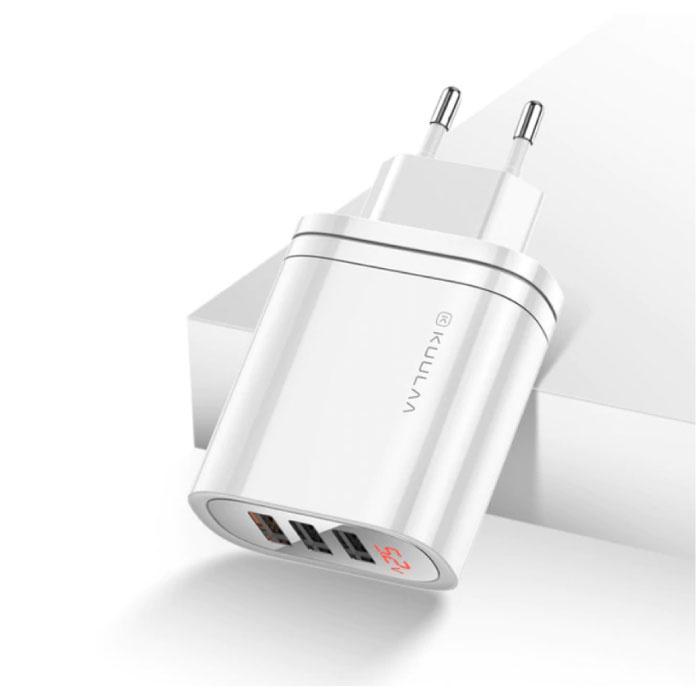 Qualcomm Charge rapide USB 3.0 Triple Port 3x Chargeur Chargeur Accueil Chargeur AC Branchez l'adaptateur chargeur