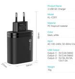 Kuulaa Qualcomm Quick Charge 3.0 Triple 3x Port USB Muur Oplader Wallcharger AC Thuislader Stekkerlader Adapter