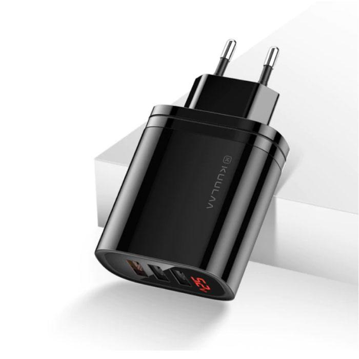 Qualcomm Quick Charge 3.0 Triple 3x Port USB Wall Charger Wallcharger AC Home Charger Plug Charger Adapter