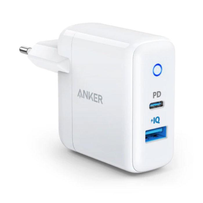 ANKER PowerIQ Dual Port Muur Oplader Wallcharger AC Thuislader Stekkerlader Adapter Wit