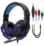 Stuff Certified® Bass HD Gaming Headset Stereo Koptelefoon Headphones met Microfoon PlayStation 4 / PC Blauw