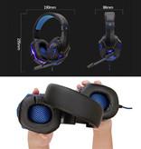 Stuff Certified® Basse HD Gaming Headset Casque stéréo avec microphone casque PlayStation Blanc 4 / PC