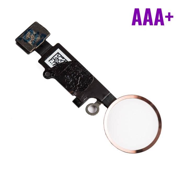 Stuff Certified® Pour Apple iPhone 8 Plus - Ensemble bouton d'accueil AAA + avec câble flexible Or rose