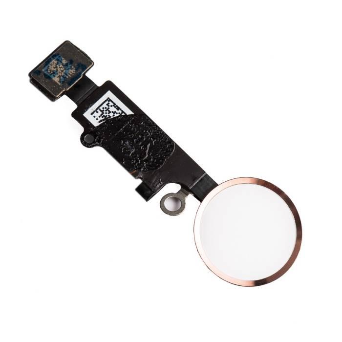 Pour Apple iPhone 8 Plus - Assemblage du bouton A + Home avec câble flexible Or rose