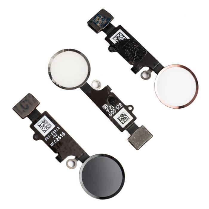 Stuff Certified® Pour Apple iPhone 8 Plus - Ensemble bouton A + Home avec câble flexible blanc