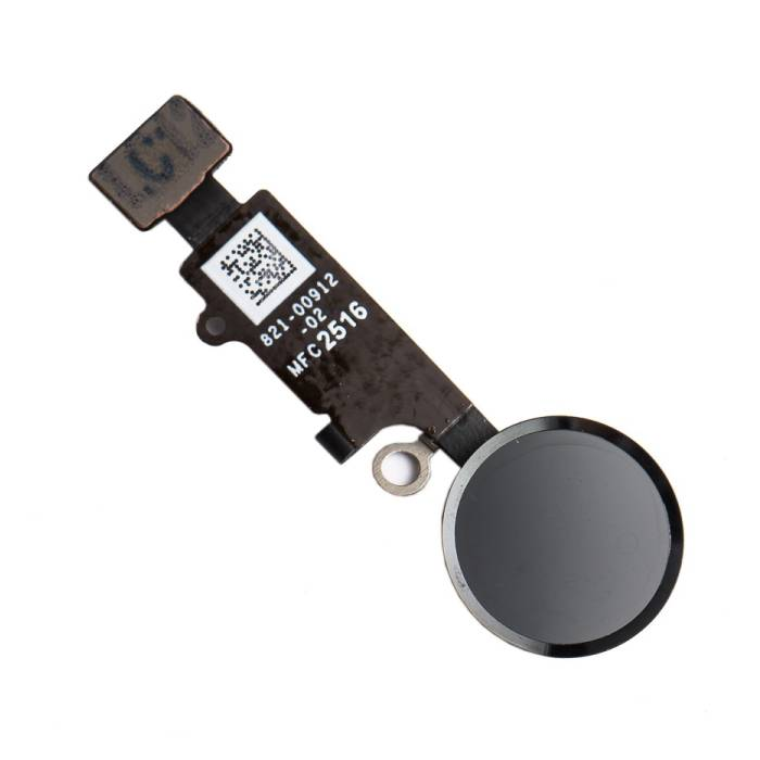 For Apple iPhone 8 Plus - A + Home Button Assembly with Flex Cable Black