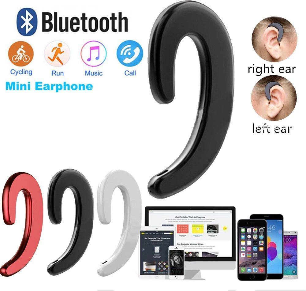You First Draadloze Bluetooth 4.1 Bone Conduction Headset Oortjes met Microfoon Oortelefoon Wit