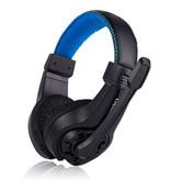 Lupuss G1 Casque stéréo avec microphone casque Gaming PlayStation 4 Bleu