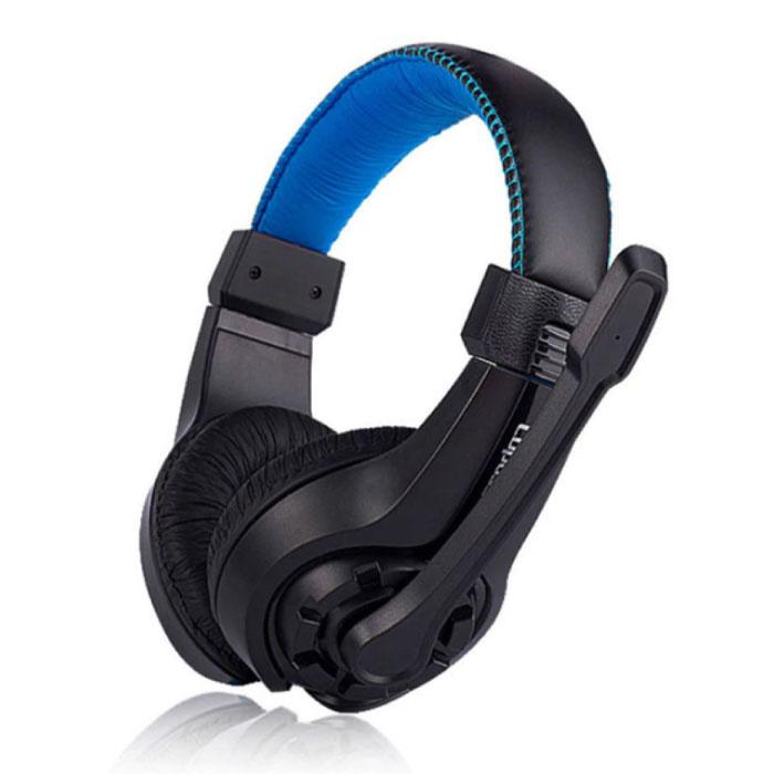 G1-Kopfhörer mit Mikrofonkopfhörer Stereo-Gaming für PlayStation 4 Blue