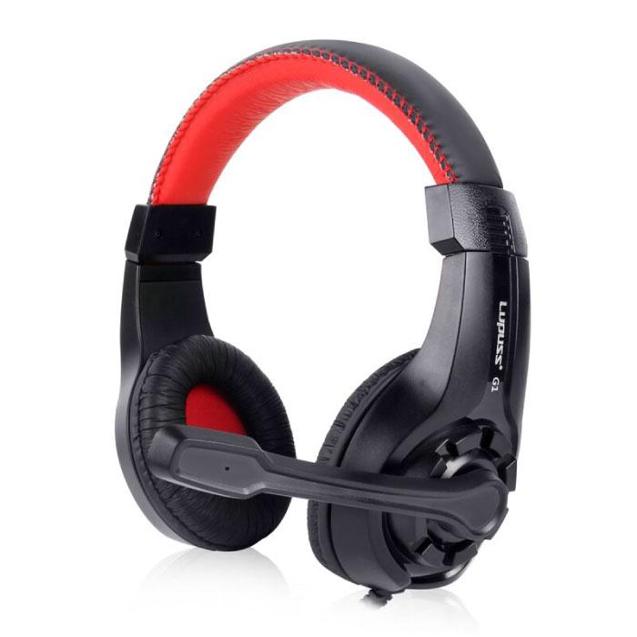 Casque G1 avec microphone Casque de jeu stéréo pour PlayStation 4 Rouge