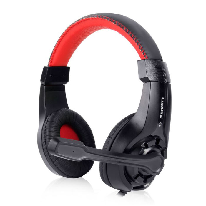 G1 Headphones with Microphone Headphones Stereo Gaming PlayStation 4 Red
