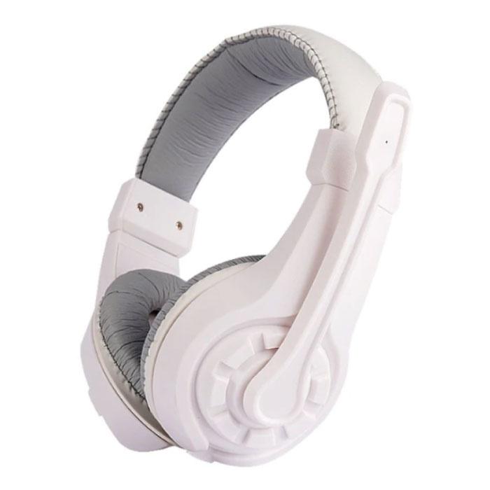 G1 Koptelefoon met Microfoon Headphones Stereo Gaming PlayStation 4 Wit