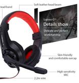 Lupuss G1 Koptelefoon met Microfoon Headphones Stereo Gaming PlayStation 4 Wit