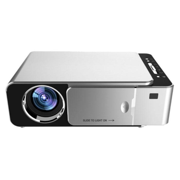Alston T6 LED Projector - Mini Beamer Home Media Player Silver