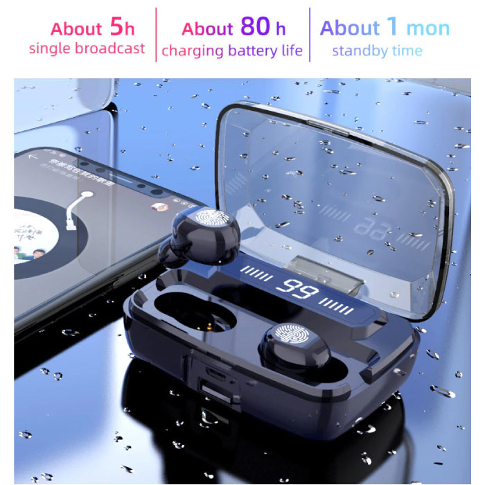 Stuff Certified® M11-9 TWS Wireless Smart Touch Control Earphones Bluetooth 5.0 Air Wireless Pods Earphones Earbuds