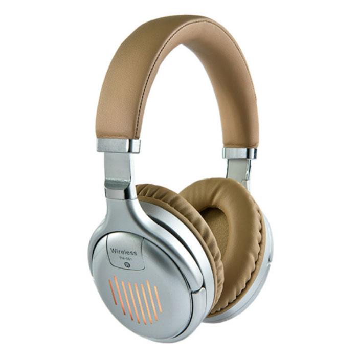 TM-061 Draadloze Koptelefoon Bluetooth Wireless Headphones Stereo Gaming Zilver