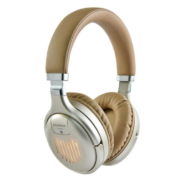 TM-061 Draadloze Koptelefoon Bluetooth Wireless Headphones Stereo Gaming Goud