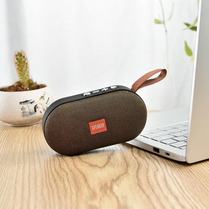 T7 Mini Bluetooth 5.0 Soundbox Wireless Speaker Haut-parleur sans fil externe Gold