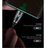 Baseus USB-C Gekrulde Spiraal Oplaadkabel Datakabel 1 Meter Oplader Zwart