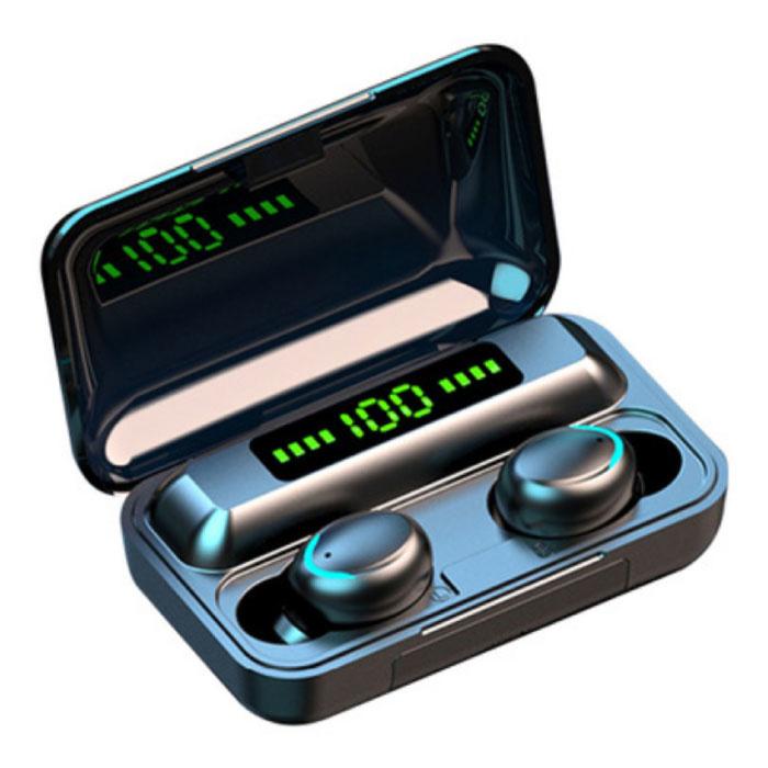 IPX7 TWS Draadloze Smart Touch Control Oortjes 2200mAh Bluetooth 5.0 Ear Wireless Buds Earphones Earbuds Oortelefoon Zwart