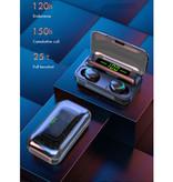 Stuff Certified® IPX7 TWS Draadloze Smart Touch Control Oortjes 2200mAh Bluetooth 5.0 Air Wireless Pods Earphones Earbuds Zwart