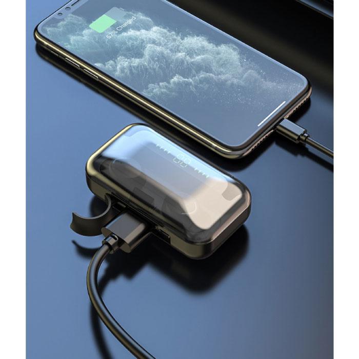 Stuff Certified® IPX7 TWS Wireless Smart Touch Control Earphones 2200mAh Bluetooth 5.0 Air Wireless Pods Earphones Earbuds White
