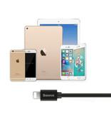 Baseus iPhone Lightning Gekrulde Spiraal Oplaadkabel Datakabel 1.6 Meter Oplader Zwart