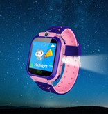 Stuff Certified® Smartwatch for Kids with GPS Tracker Smartband Smartphone Watch IPS iOS Android Blue