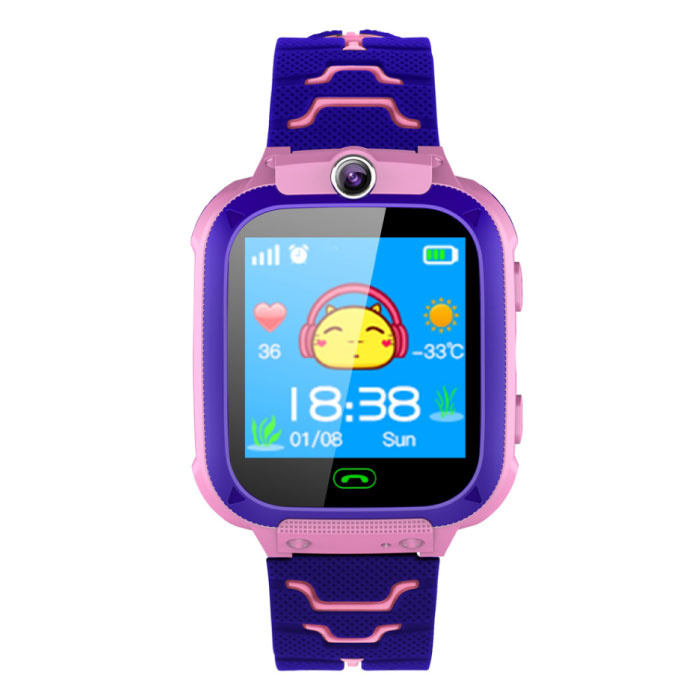 Stuff Certified® Smartwatch for Kids with GPS Tracker Smartband Smartphone Watch IPS iOS Android Pink