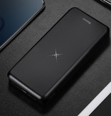 Baseus 10,000mAh Wireless Qi Charger + Power Bank Emergency Battery Wireless Charger Pad Black