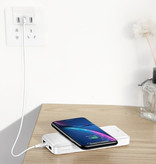 Baseus 10,000mAh Wireless Qi Charger + Power Bank Emergency Battery Wireless Charger Pad White