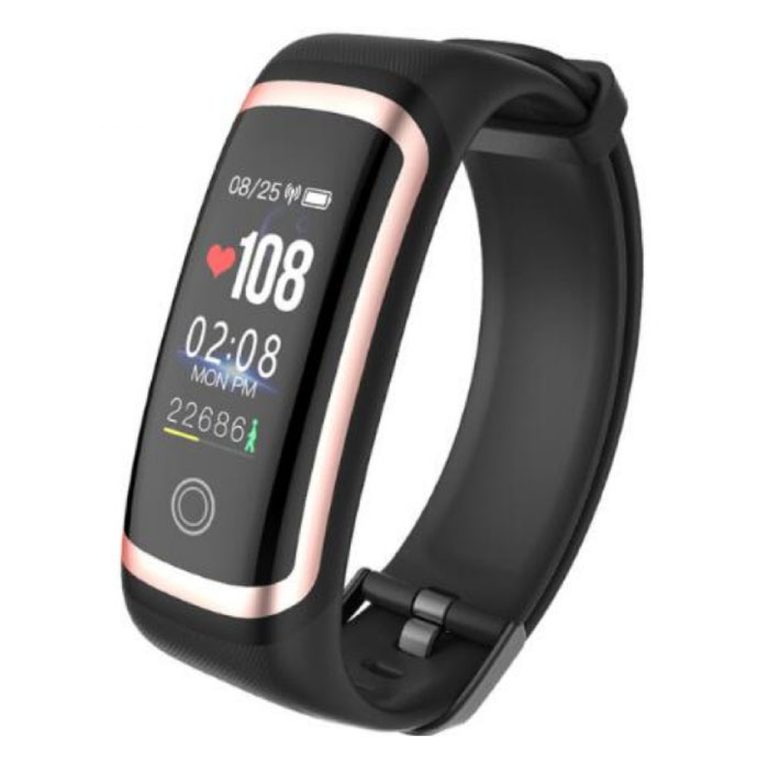 M4 Smartband Fitness Tracker Smartwatch  Smartphone Sport Activity Horloge IPS iOS Android iPhone Samsung Zwart Goud