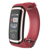 Longet M4 Smartband Fitness Tracker Smartwatch Smartphone Sport Activity Watch IPS iOS Android iPhone Samsung Red Gold