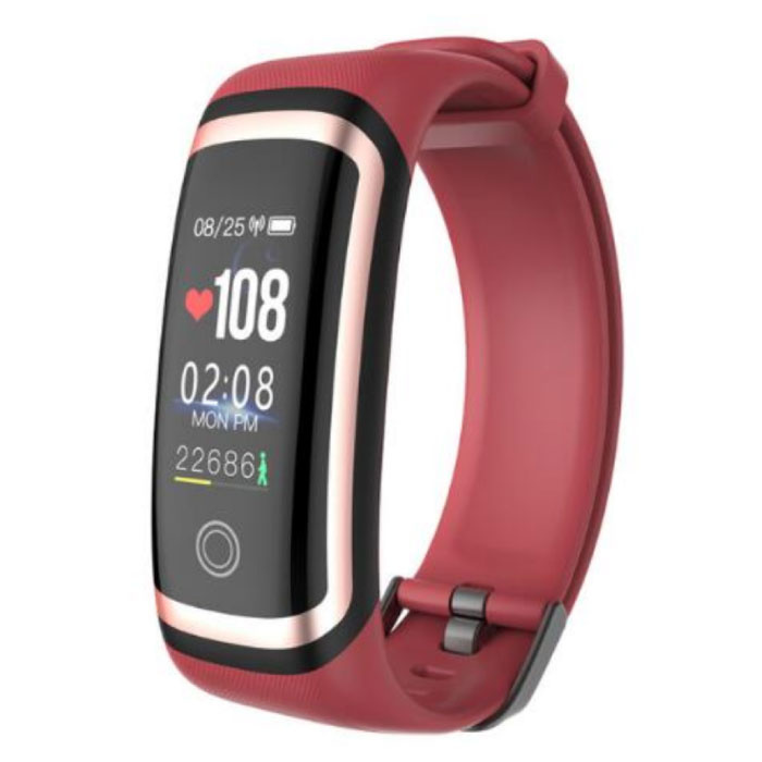 M4 Smartband Fitness Tracker Smartwatch Smartphone Sport Aktivität Uhr IPS iOS Android iPhone Samsung Rotgold