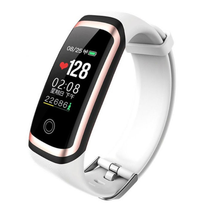 M4 intelligent Band suivi de fitness SmartWatch Sport activité Regarder IPS iOS iPhone Android Samsung White Gold