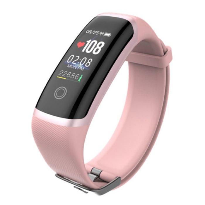 M4 Smartband Fitness Tracker Smartwatch  Smartphone Sport Activity Horloge IPS iOS Android iPhone Samsung Roze Zilver