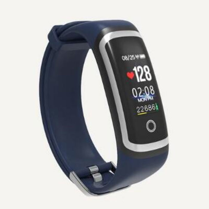 M4 intelligent Band suivi de fitness SmartWatch Sport activité Regarder IPS iOS iPhone Android Samsung Blue Silver