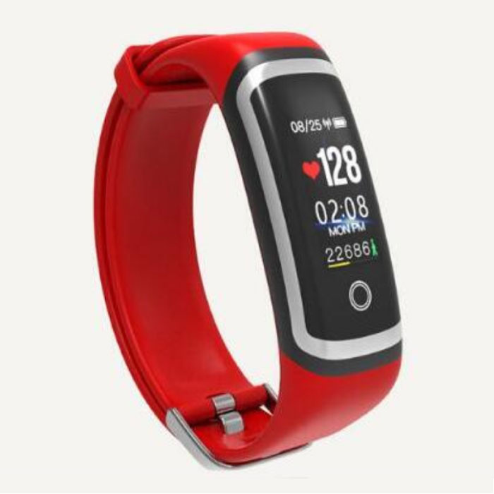 M4 Smartband Fitness Tracker Smartwatch  Smartphone Sport Activity Horloge IPS iOS Android iPhone Samsung Rood Zilver
