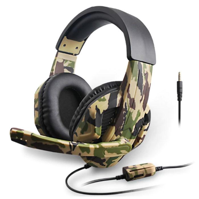 Camo Gaming Headset Casque stéréo avec microphone casque