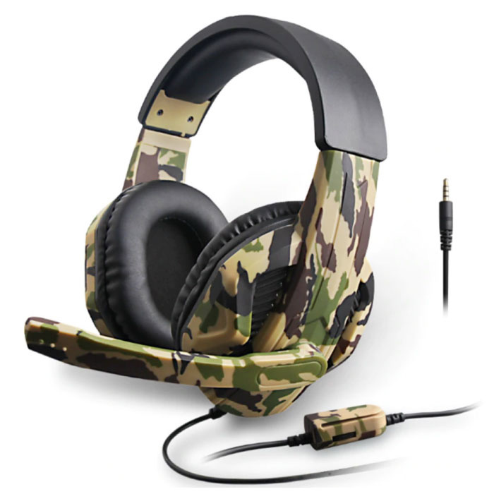 Camo Gaming Headset Stereo Koptelefoon Headphones met Microfoon